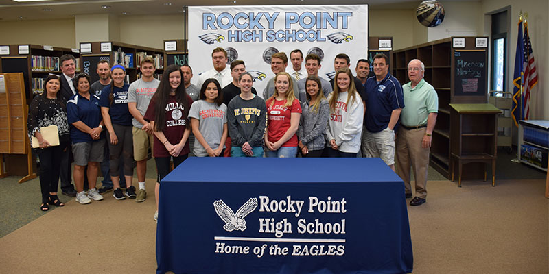 College Commitment Day for Rocky Point Eagles